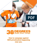 How to campaign against NHS privatisation happening near you