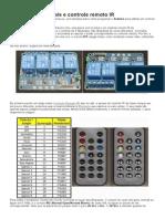 Módulo Relé 4 Canais e Controle Remoto IR