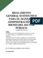 Reglamento General Sustitutivo Para El Manejo y Administración de Bienes S.P.