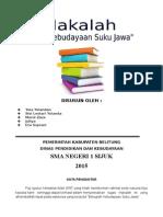 Unsur Kebudayaan Suku Jawa