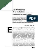 Ramírez Saíz, Juan Manuel (1997) Las Dimensiones de La Ciudadanía