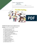 1. Ficha de Trabalho - Personal Pronouns (1)