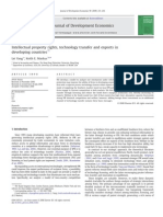 Intellectual Property Rights Technology Transfer and Exports in Developing Countries 2009 Journal of Development Economics