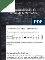 Contextualização No Ensino Da Matemática