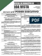 Diario Oficial de BOA VISTA roraima