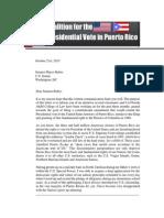 Letter to Senator Marco Rubio - PR Voting Rights
