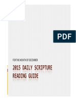 2015 Daily Scripture Reading Guide for the Month of December