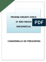 2º - Matemáticas - Simce - Ensayo 1