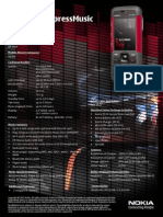 Nokia 5310 XpressMusic Datasheet