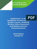 2014 Iaasb Handbook Volume 3