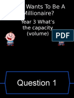 capacity who wants to be a millionaire