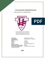 Reglamento de Evaluacion y Promoción Escolar 2015