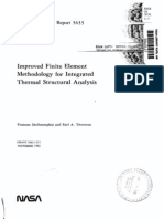 Improved Finite Element Methodology for Integrated Thermal Structural Analysis