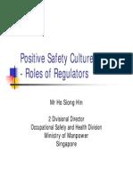 Positive Safety Culture - Singapore