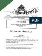 #HAITI - Decret Etablissant le #Budget Initial 2015-2016