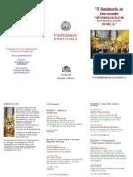 """Tríptico VI Seminario de doctorado """"Metodologías de investigación musical"""""""