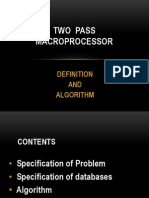 Two Pass Macroprocessor
