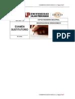 3-4 Ultimo Digito Del Codigo Del Alumno Examen Sustitutorio Investigacion de Operaciones II 2015-1
