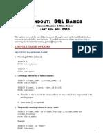 SQL Handout