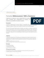 Formation Referencement SEO E-Commerce Plan de Cours