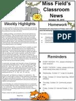 oct 16 jungle newsletter