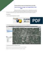 Como Generar Curvas de Nivel de Un Lugar Con Google Earth y Civil CAD
