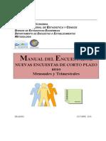 Manual Del Encuestador Mensual y Trimestral