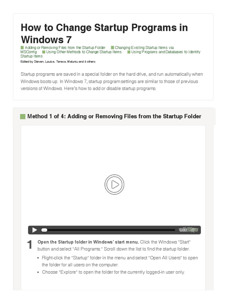 manage startup files windows 7