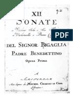 Bigaglia Sontas Violino Ou Flatua e Continuo