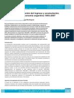 Excedente, distribución del ingreso y acumulación. Trayectoria de la economía argentina 1993-2007