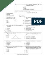Control Geometria 6to