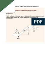 Problemas Resueltos Sobre La Ecuacion de Bernoulli