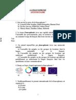 La Francophonie - Questionnaire