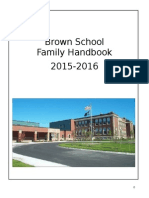 2015-2016 Brown School Handbook