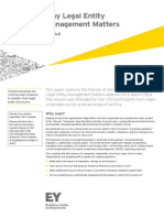 EY Why Legal Entity Management Matters Issue 1 Q1 2014