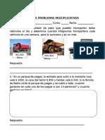 Guía de Problemas Multiplicativos 5º Basico