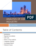 Analysis of Cement Industry