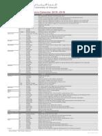 Undergraduate Academic Calendar 2015-2016