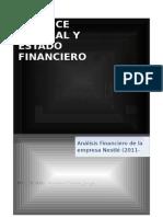 Análisis Financiero de La Empresa Nestlé