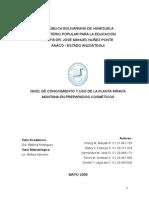 Nivel de Conocmiento y Uso de La Planta Árnica en Preparados Cosmeticos (Corregido)