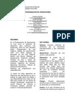 Articulo - Programacion de Operaciones