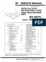 AFD service manual on the MX-3501N  MX-4501N