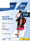 SPEKTRUM – Tage der Neuen Musik Programm 2015