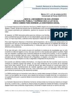 Comunicado CNDH