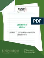 Unidad 1. Fundamentos de La Estadistica