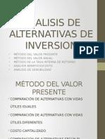 Analisis de Alternativas de Inversion
