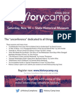 History Camp Iowa November 14, 2015 in Des Moines