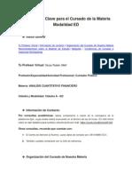 Informaci-n Clave Para El Cursado de La Materia - Modalidad ED