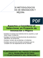 Metodologia Proyecto de Innovacion Y_o Mejora