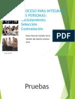 Pruebas, Contratación, Inducción y Evaluación de Desempeño